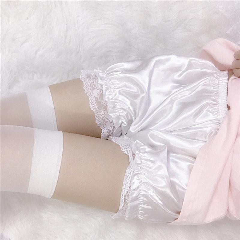 Modakawa Shorts Lolita Ruffle Plush Lace Shorts