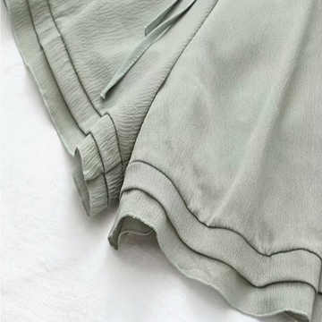 Modakawa Shorts Pure Color Chiffon Shorts