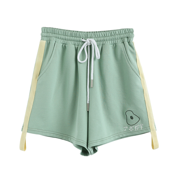 Modakawa Shorts S Avocado High Waist Drawstring Shorts