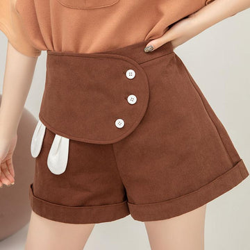 Modakawa Shorts Sweet High Waist Wide Leg shorts