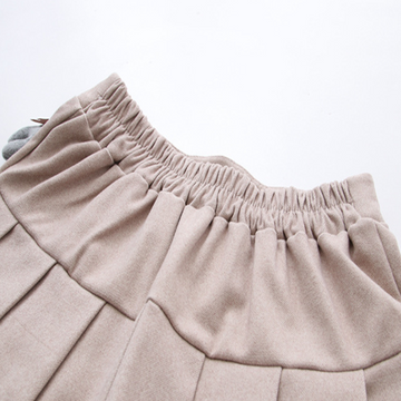 Modakawa Skirt Bear Accessory Elastic Waist Pleated Mini Skirt