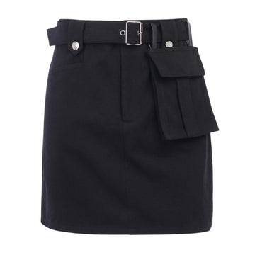 Modakawa Skirt Black / S Cargo Pocket Belt Vintage A-Line Skirt