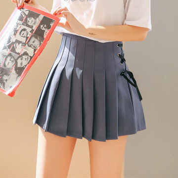 Modakawa Skirt Blue / S Short Pleated School Girl Skirts