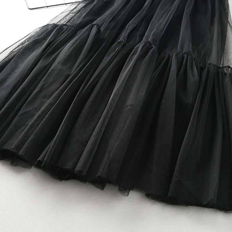 Modakawa Skirt High Waist A-Line Tulle Skirt