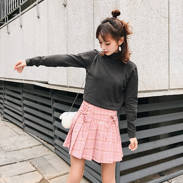 Modakawa Skirt Pink / XS Plaid Pleated Skirt