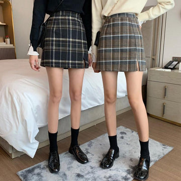Modakawa Skirt Plaid A-Line Mini Skirt