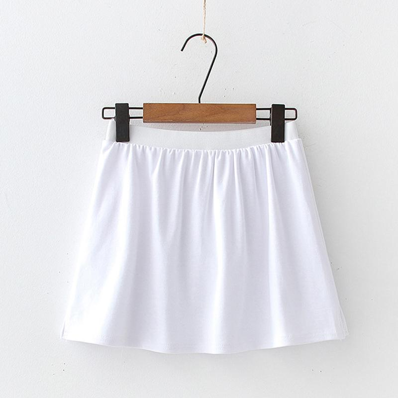 Modakawa Skirt Pure White / One Size Embroidery Slit White Base Short Skirt
