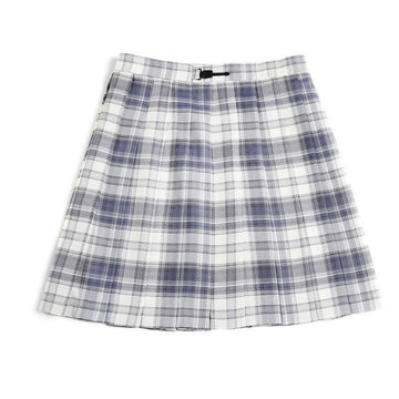 Modakawa Skirt Purple & White / XS Plaid JK Uniform High Waist Pleated Short Skirt