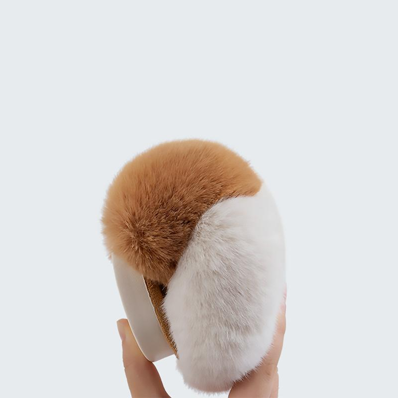 Modakawa Slippers Corgi Ass Puppy Tail Coral Fleece Slippers