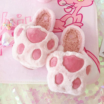 Modakawa Slippers Pink1 / 35~36 Cat Claw Slippers for Women Slippers Pink