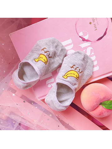 Modakawa Socks Banana Summer Kawaii Fruit No Show Socks