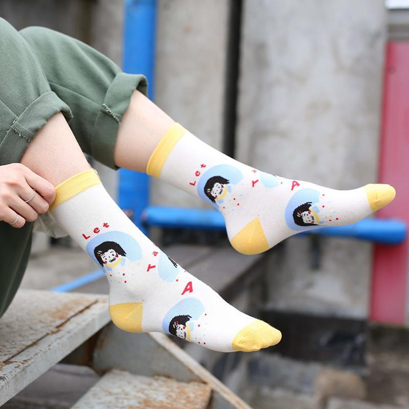 Modakawa Socks Cute Cartoon Colorful Socks