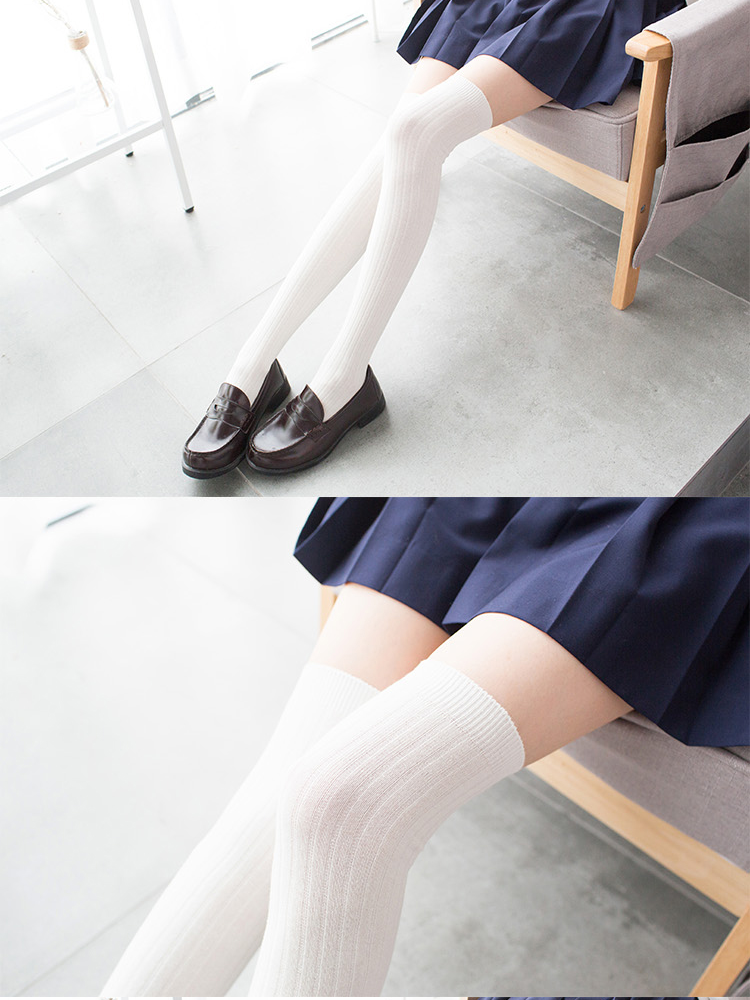 Modakawa Socks School-girl Vertical stripes Stockings