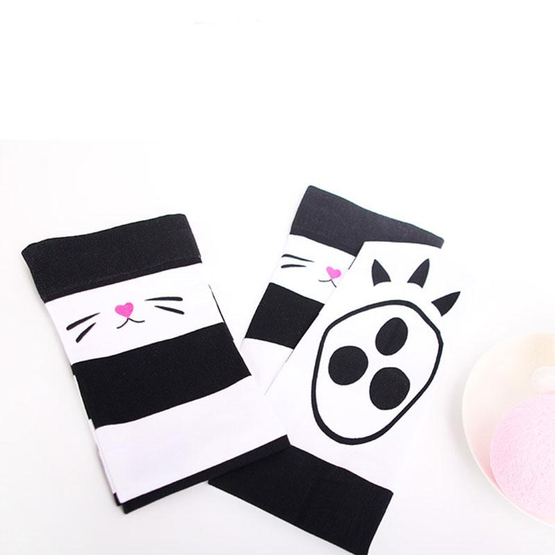 Modakawa Socks Stripe Cat Claw Candy Color High Socks Long Over the Knee