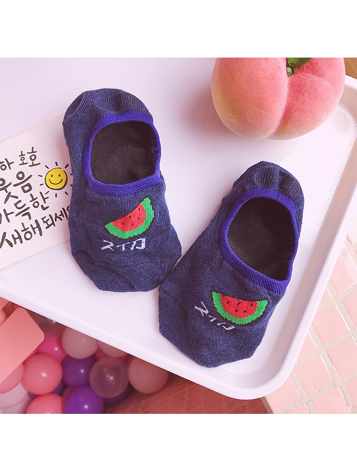 Modakawa Socks Watermelon Summer Kawaii Fruit No Show Socks