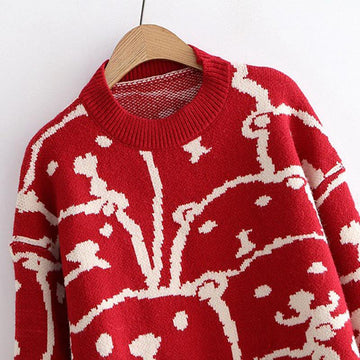 Modakawa Sweatshirt Bear Cartoon Loose Sweater