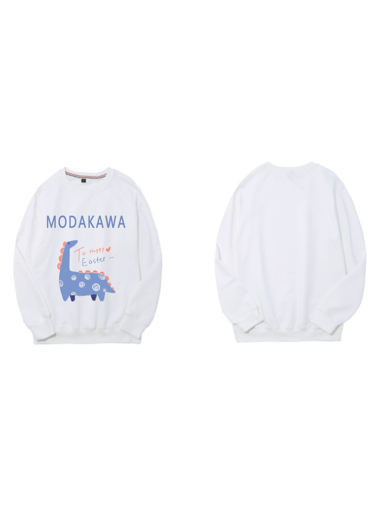 Modakawa Sweatshirt Black / M Modakawa Anniversary Limited Edition Sweatshirt : Happy Easter!(Blue Dinosaur)