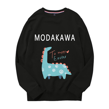 Modakawa Sweatshirt Black / M Modakawa Anniversary Limited Edition Sweatshirt : Happy Easter!(Green Dinosaur)