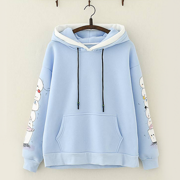 Modakawa Sweatshirt Blue Cute Mochi Candy Color Hoodie