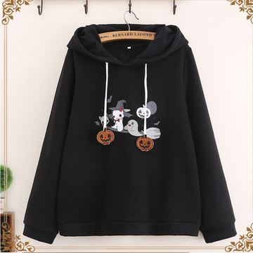 Modakawa Sweatshirt Cute Halloween Cosplay Devil Pumpkin Hoodie