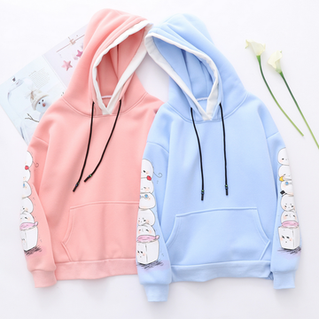 Modakawa Sweatshirt Cute Mochi Candy Color Hoodie