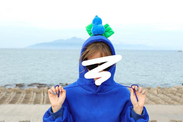 Modakawa Sweatshirt Dark Blue / M BFF Matching Best Friends Candy Rainbow Color Calabash Oversized Hoodie