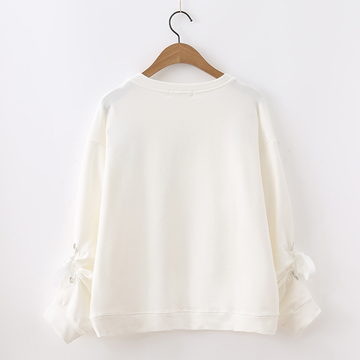 Modakawa Sweatshirt Flower Embroidered Lace Sweater