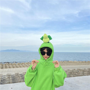 Modakawa Sweatshirt Green / M BFF Matching Best Friends Candy Rainbow Color Calabash Oversized Hoodie