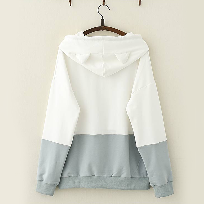 Modakawa Sweatshirt Kawaii Fish Cat Claw Hoodie