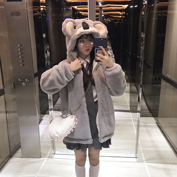 Modakawa Sweatshirt Koala Plush Winter Coat