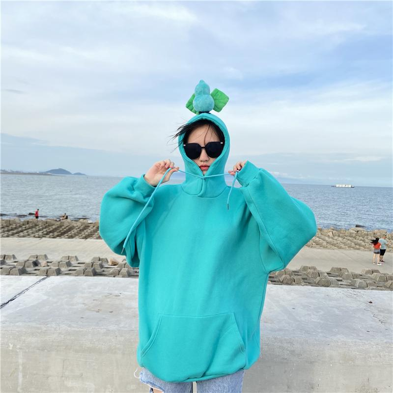 Modakawa Sweatshirt Light Blue / M BFF Matching Best Friends Candy Rainbow Color Calabash Oversized Hoodie
