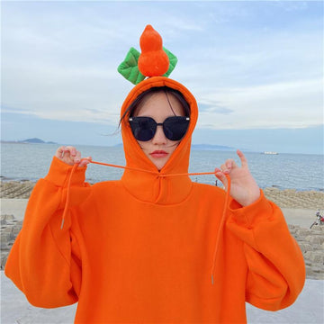 Modakawa Sweatshirt Orange / M BFF Matching Best Friends Candy Rainbow Color Calabash Oversized Hoodie