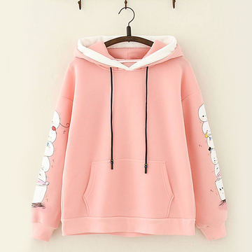 Modakawa Sweatshirt Pink Cute Mochi Candy Color Hoodie