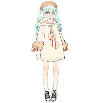 Modakawa Sweatshirt Sweet Loose Sakura Hoodie Dress Lantern Sleeve Color Block