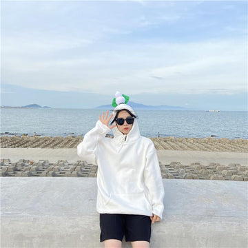 Modakawa Sweatshirt White / M BFF Matching Best Friends Candy Rainbow Color Calabash Oversized Hoodie