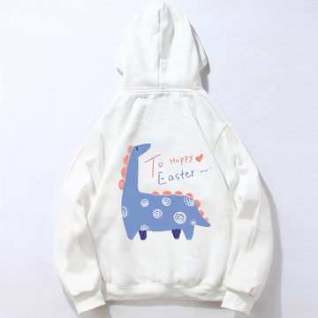 Modakawa Sweatshirt White / M Modakawa Anniversary Limited Edition Hoodie : Happy Easter!(Blue Dinosaur)