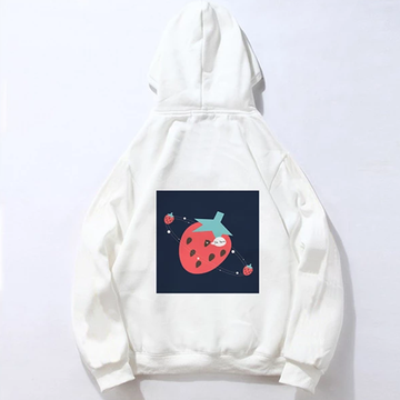 Modakawa Sweatshirt White / M Modakawa Anniversary Limited Edition Hoodie : Strawberry Universe