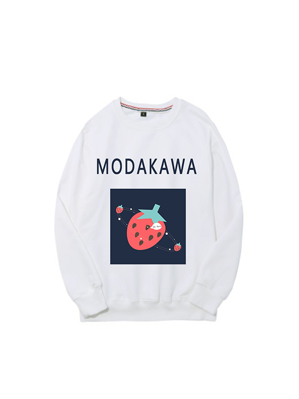 Modakawa Sweatshirt White / M Modakawa Anniversary Limited Edition Sweatshirt : Strawberry Universe