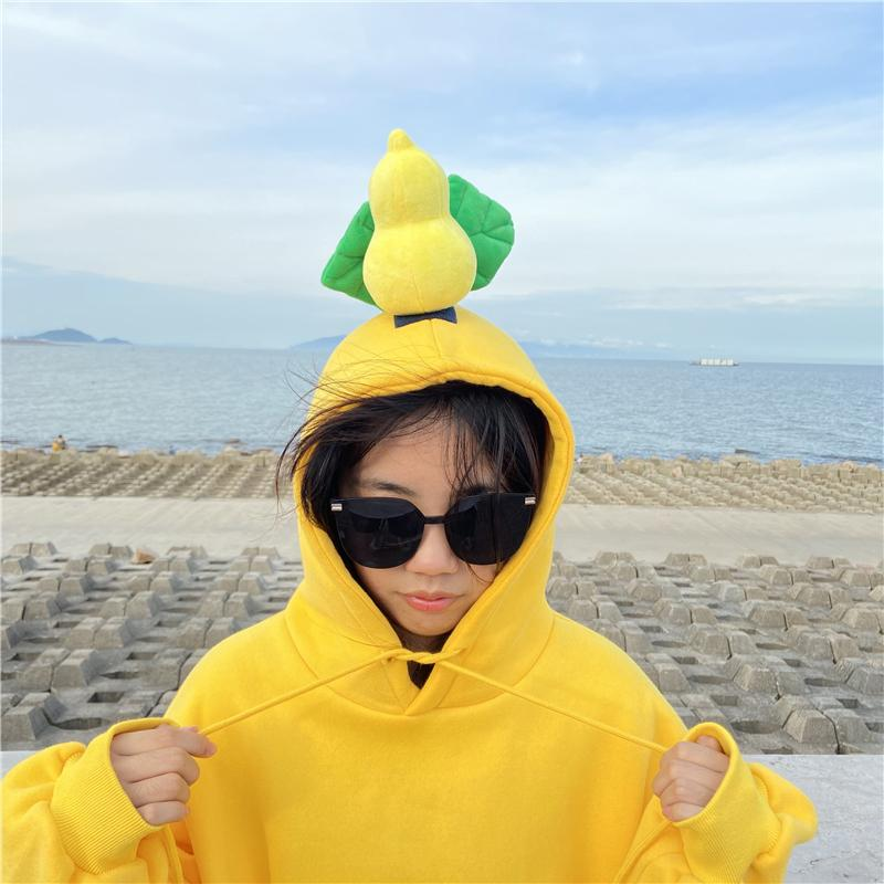 Modakawa Sweatshirt Yellow / M BFF Matching Best Friends Candy Rainbow Color Calabash Oversized Hoodie