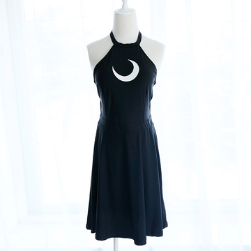 Modakawa Swimwear Moon Strappy Backless Swimdress