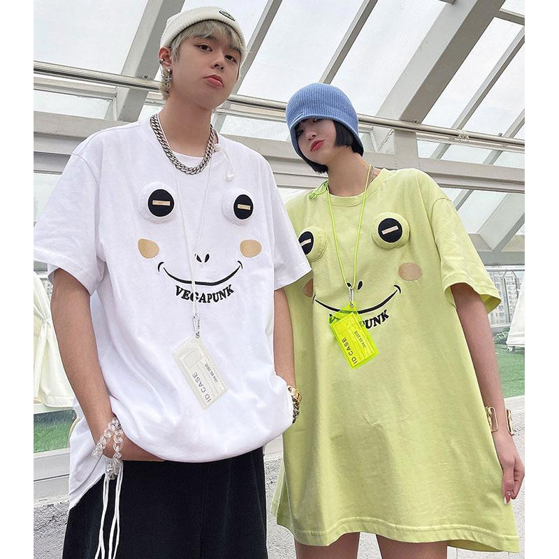 Modakawa T-Shirt Frog Three-Dimensional Embroidery Cartoon T-Shirt
