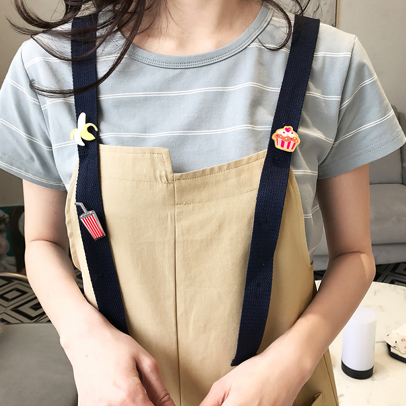 Modakawa T-Shirt Girlfriend Boyfriend Valentine Cactus T-Shirt Bib Overalls Shorts Set