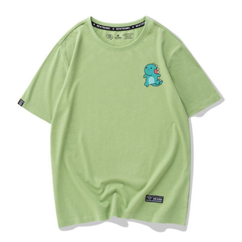 Modakawa T-Shirt Green / S Kawaii Dinosaur Print T-shirt Short Sleeve