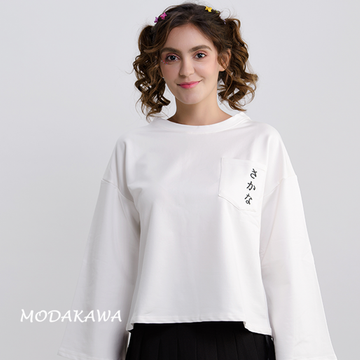 Modakawa T-Shirt Japanese Koi Fish Trumpet Sleeves Top