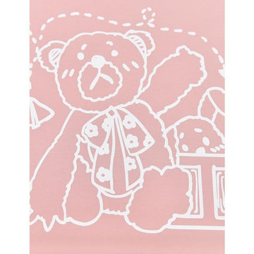 Modakawa T-Shirt Sweet Bear Print Pocket Loose T-shirt