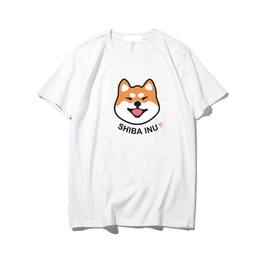 Modakawa T-Shirt White / M Korean Cartoon Dog Print T-shirt