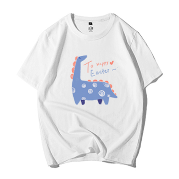 Modakawa T-Shirt White / M Modakawa Anniversary Limited Edition T-Shirt: Happy Easter!(Blue Dinosaur)