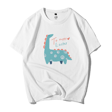 Modakawa T-Shirt White / M Modakawa Anniversary Limited Edition T-Shirt: Happy Easter!(Green Dinosaur)
