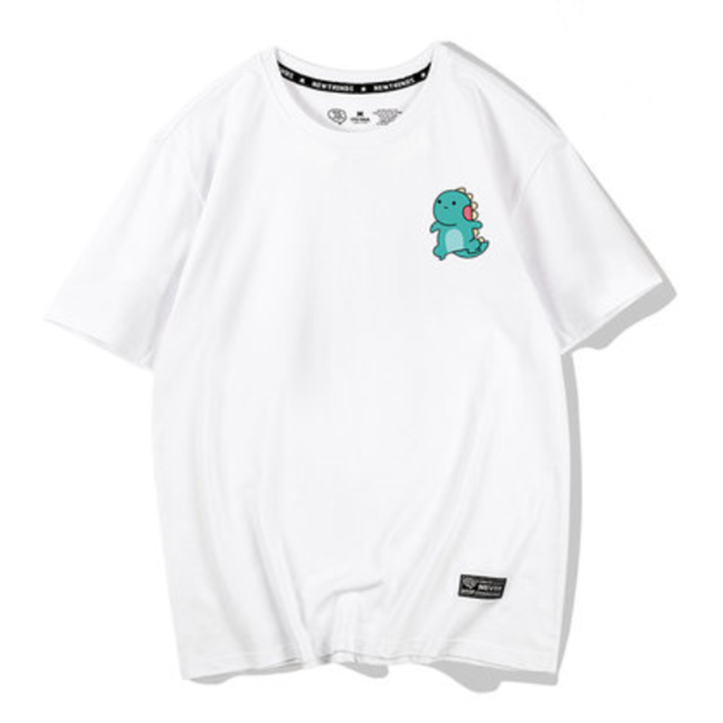 Modakawa T-Shirt White / S Kawaii Dinosaur Print T-shirt Short Sleeve