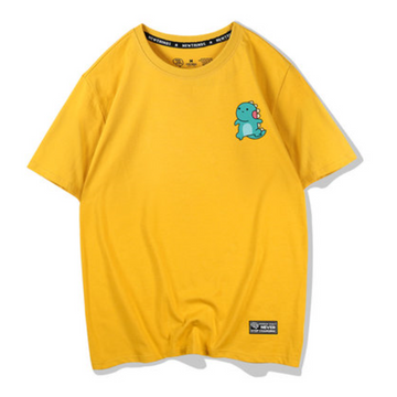 Modakawa T-Shirt Yellow / S Kawaii Dinosaur Print T-shirt Short Sleeve